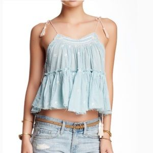 Free People Crinkle Magic Power Tank XS